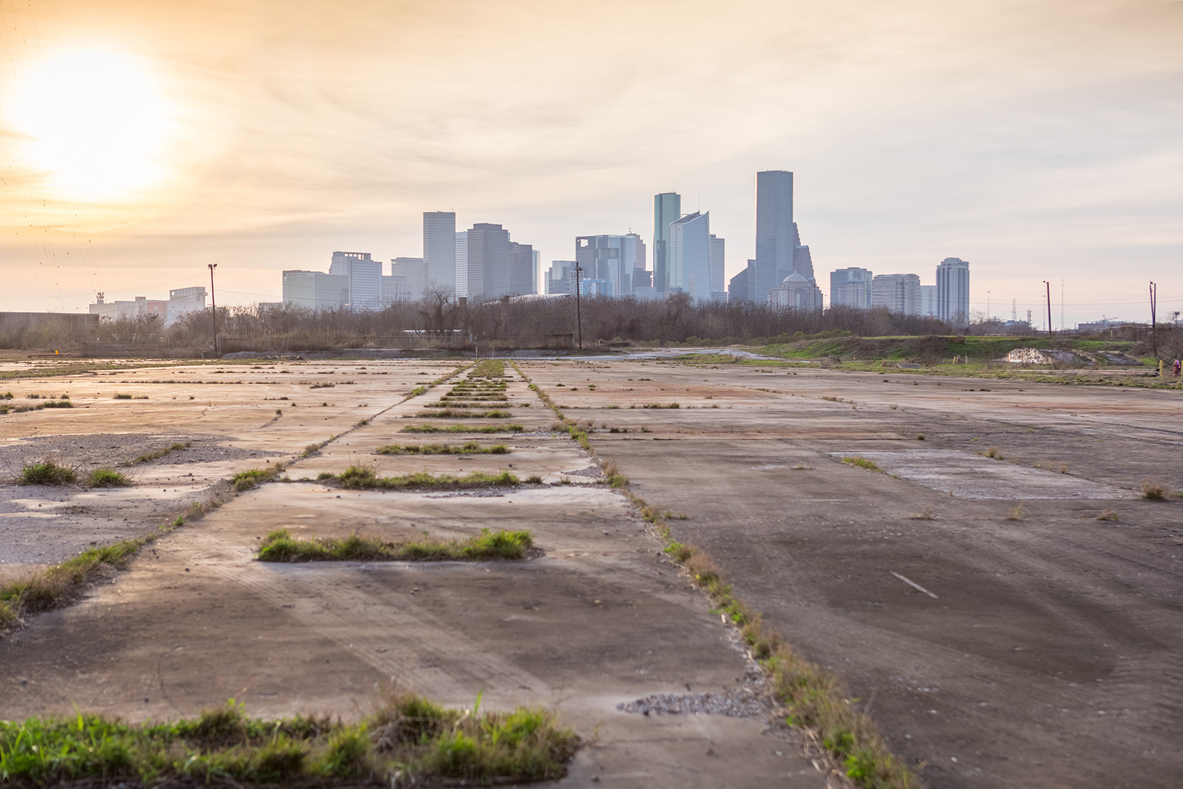 the apocalyptic landscape of Houston Texas during covid 19 pandemic while social distancing by an editorial photographer