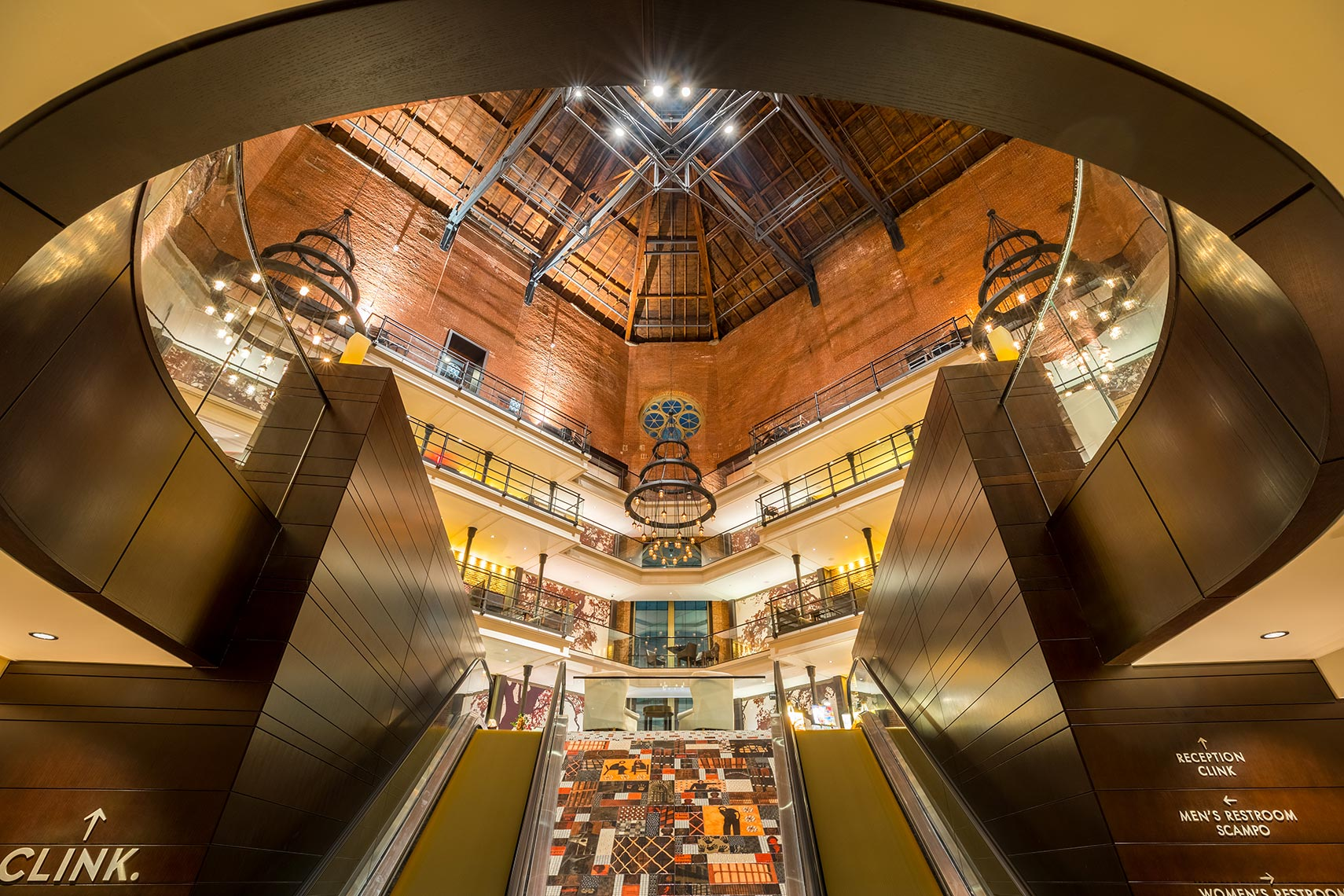 Clink Hotel Lobby in Boston by Texas Architectural Photographer Shannon O