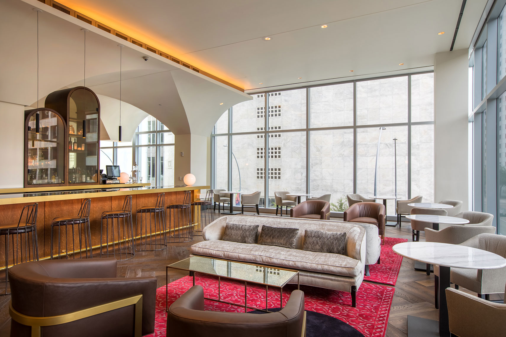 Hotel Alessandra Bar at GreenStreet in Houston by Texas Best Architectural Photographer