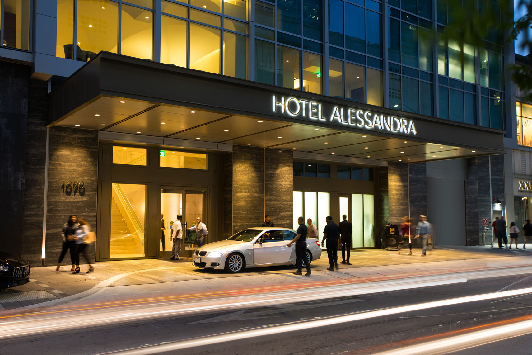 Hotel Alessandra Valet at GreenStreet in Houston by Texas Architectural Photographer