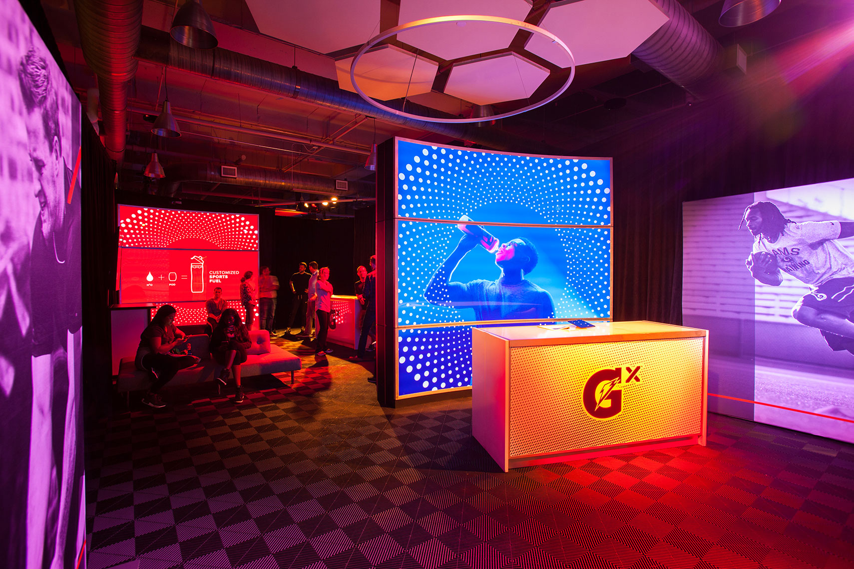 interior design Photo of a Gatorade Gym by a Commercial Advertising photographer in Houston, Texas