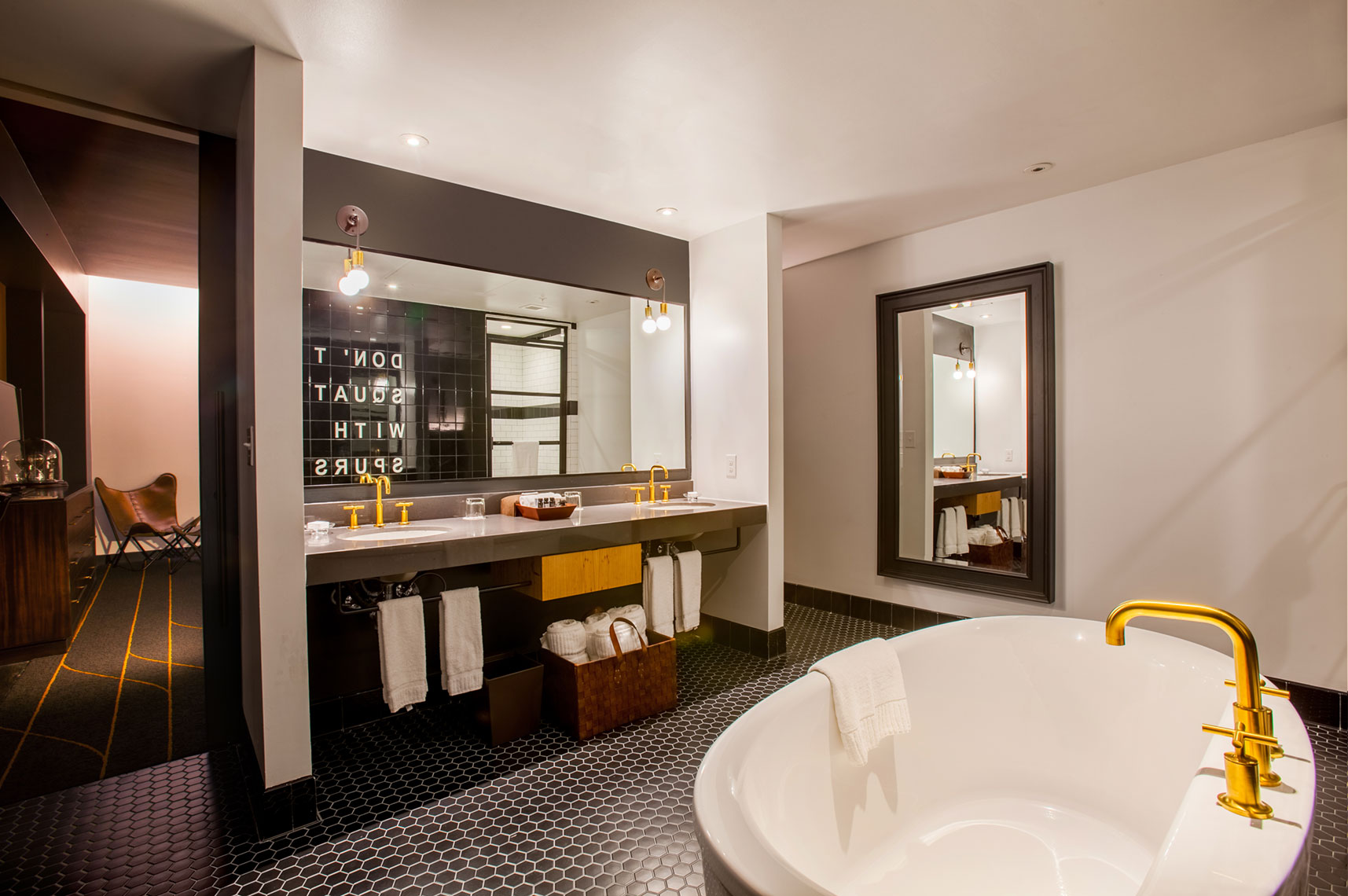 Hotel Bathroom  photography by Houston Architectural Photographer Shannon O