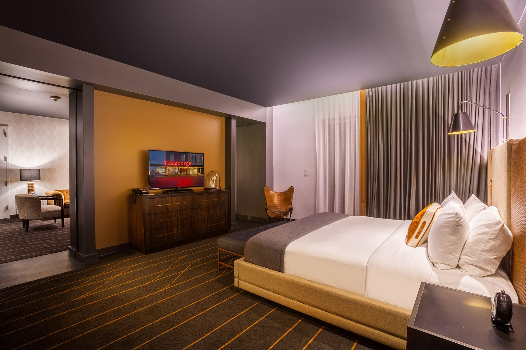 Hotel Room photography by Texas Architectural Photographer Shannon O