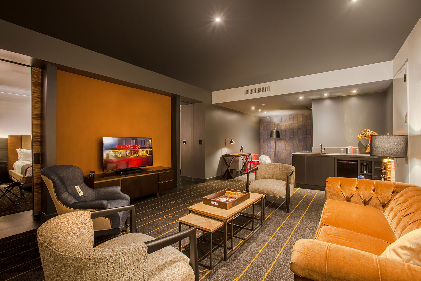 Hotel Room photography by Houston Architectural Photographer Shannon O