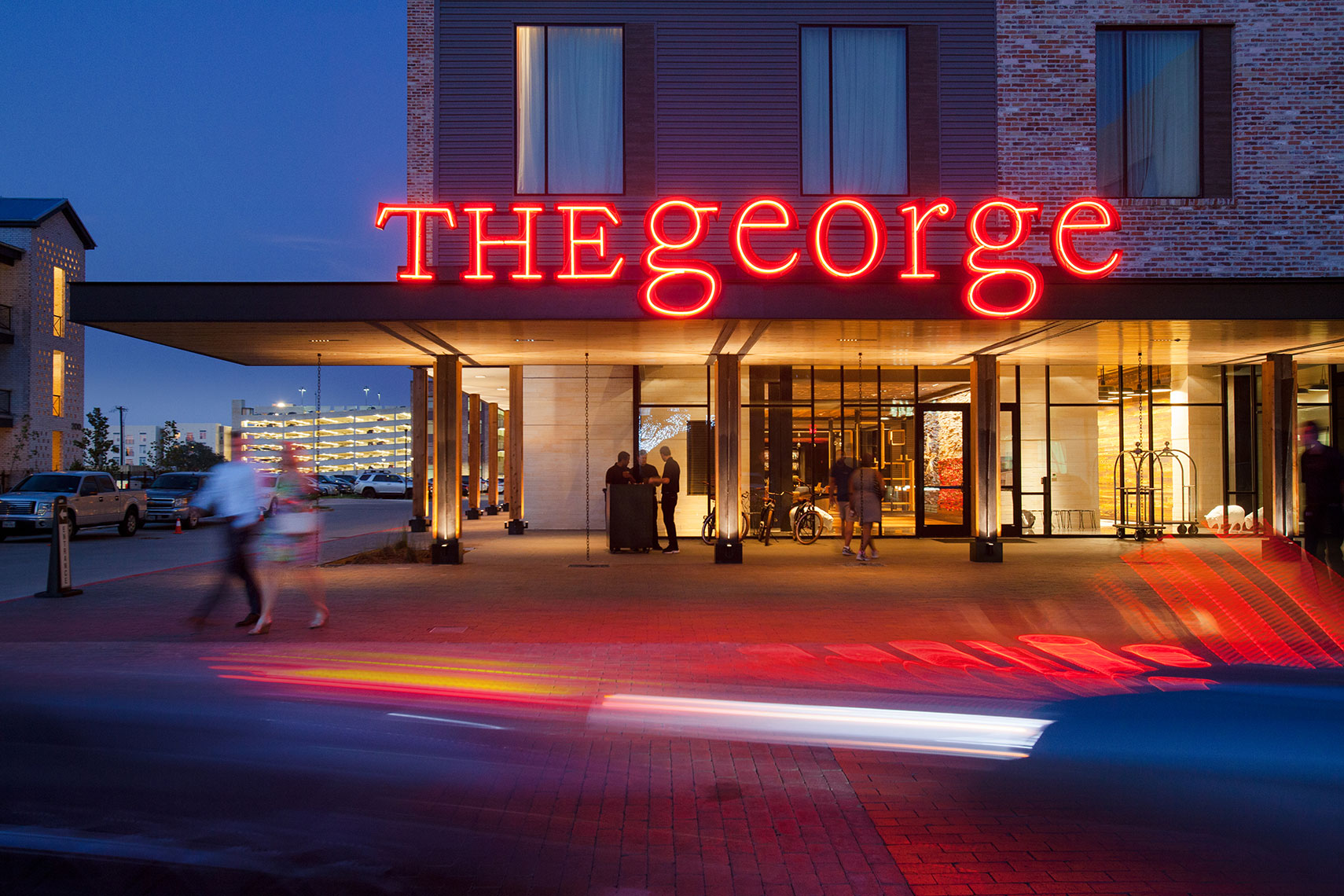 The George Hotel at Century Square in  College Station by Houston Architectural Photographer Shannon O