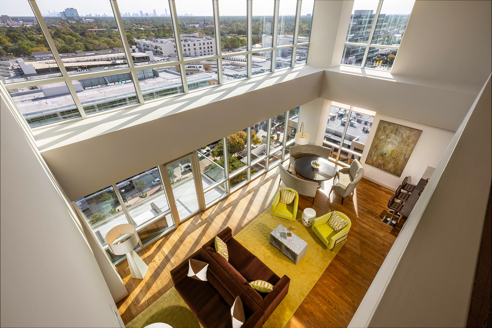 Penthouse Suite in Hotel Sorella at CityCentre by Houston Architectural Photographer Shannon O