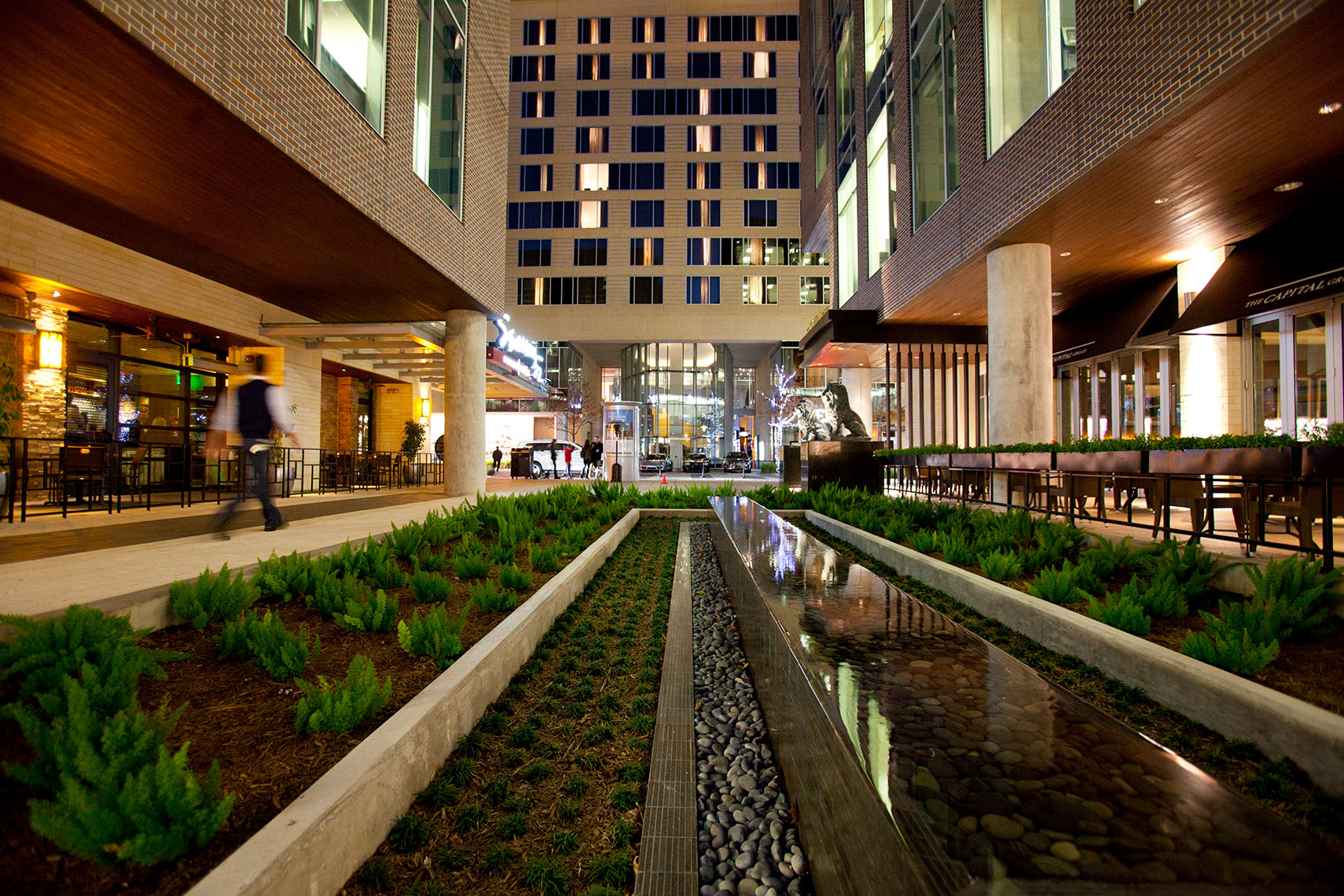 an Architectural photograph of Hotel Sorrella at CityCentre in Houston, Texas