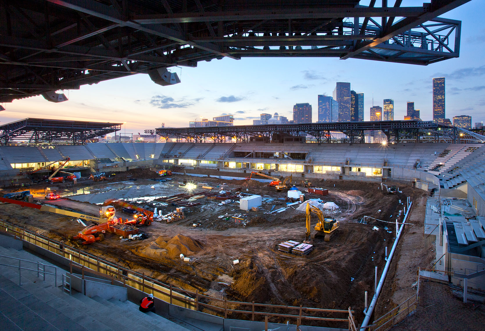 BBVA Stadium under construction in Houston Texas by Commercial photographer Shannon O